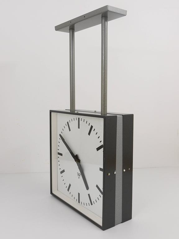 very big double sided industrial twoface train station clock 2
