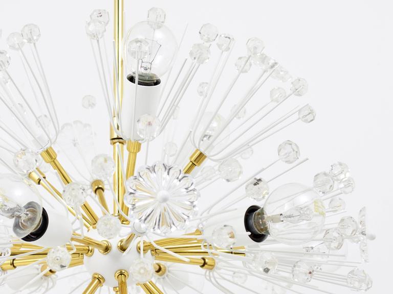 Mid-Century Modern Emil Stejnar Blowball Sputnik Brass Chandelier by Rupert Nikoll, Austria, 1950s For Sale