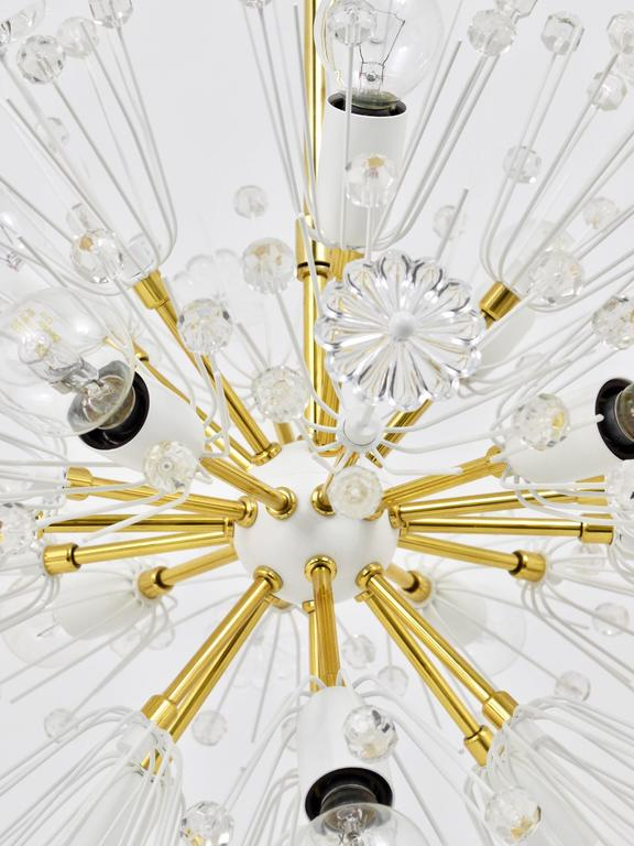 Emil Stejnar Blowball Sputnik Brass Chandelier by Rupert Nikoll, Austria, 1950s For Sale 2
