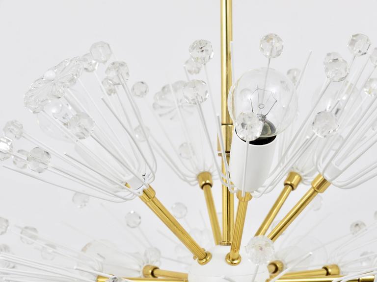 Emil Stejnar Blowball Sputnik Brass Chandelier by Rupert Nikoll, Austria, 1950s For Sale 3