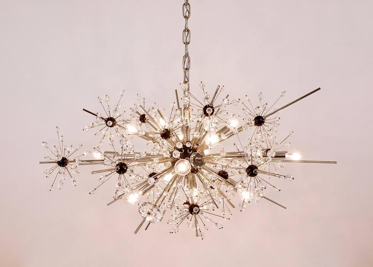 Mid-Century Modern Huge Metropolitan Opera Crystal Sputnik Met Chandelier by Lobmeyr Vienna