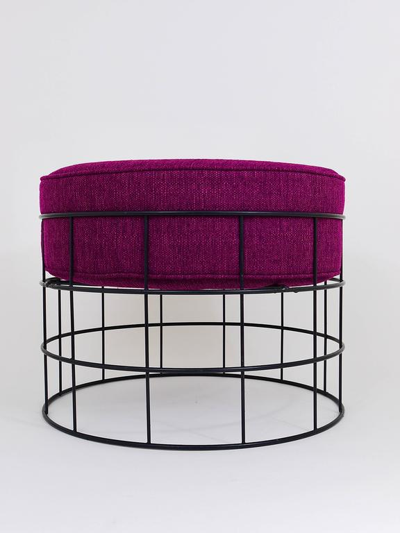 Mid Century Wire Stool T1 By Verner Panton For Plus Linje