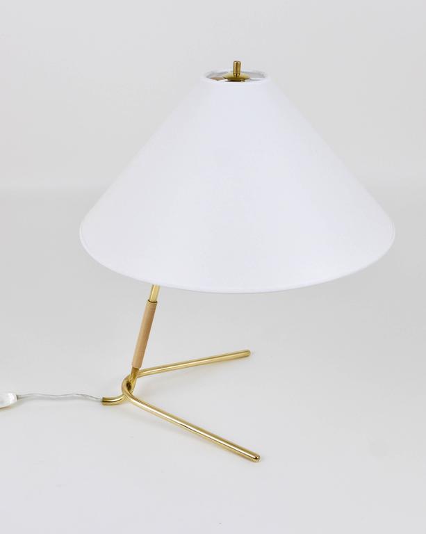Mid-Century Kalmar Hase TL Brass Table Lamp, Austria, 1950s For Sale 2