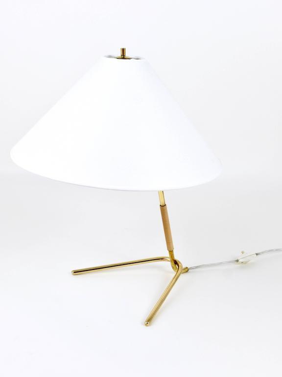 Austrian Mid-Century Kalmar Hase TL Brass Table Lamp, Austria, 1950s For Sale