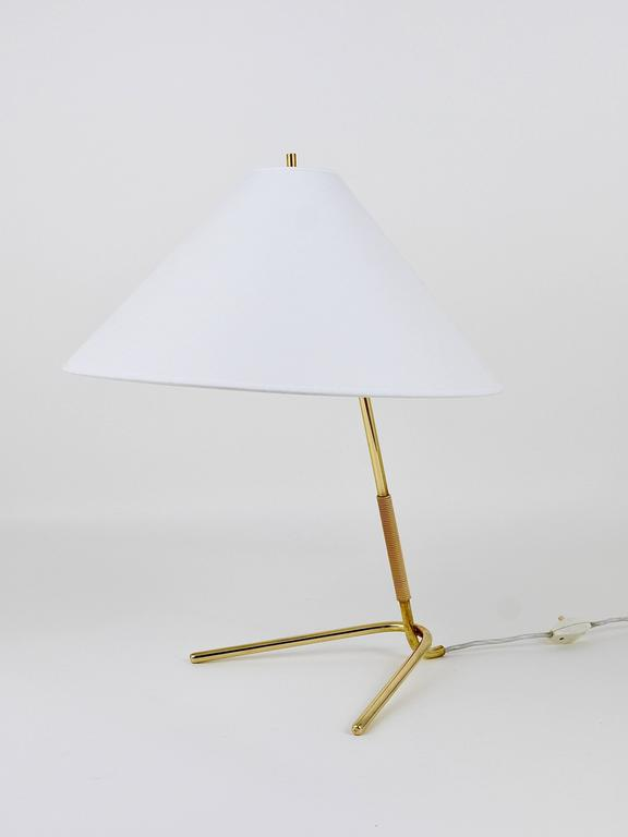 Mid-Century Kalmar Hase TL Brass Table Lamp, Austria, 1950s In Excellent Condition For Sale In Vienna, AT