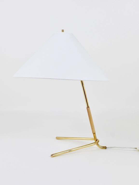 20th Century Mid-Century Kalmar Hase TL Brass Table Lamp, Austria, 1950s For Sale