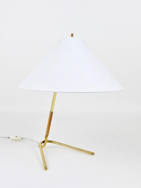 Mid-Century Modern Mid-Century Kalmar Hase TL Brass Table Lamp, Austria, 1950s For Sale