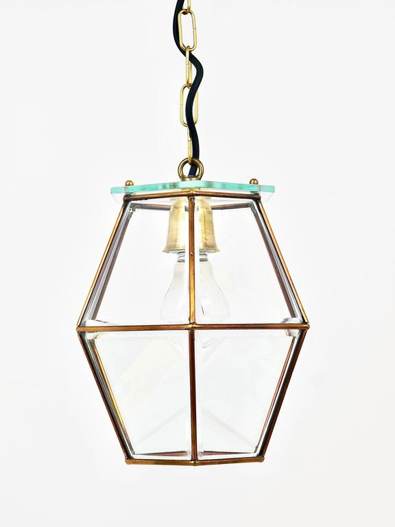 Art Nouveau Pendant Lamp Lantern in the Manner of Adolf Loos, Knize, 1900s In Good Condition For Sale In Vienna, AT