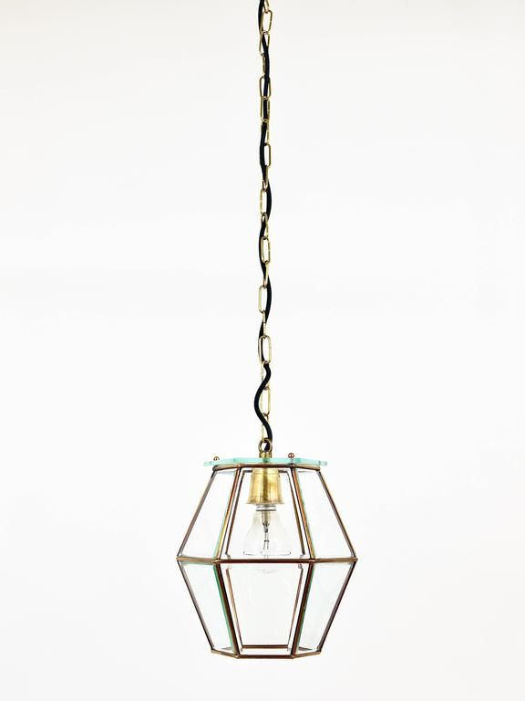 Art Nouveau Pendant Lamp Lantern in the Manner of Adolf Loos, Knize, 1900s For Sale 1
