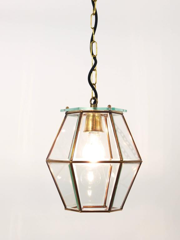 Art Nouveau Pendant Lamp Lantern in the Manner of Adolf Loos, Knize, 1900s For Sale 2