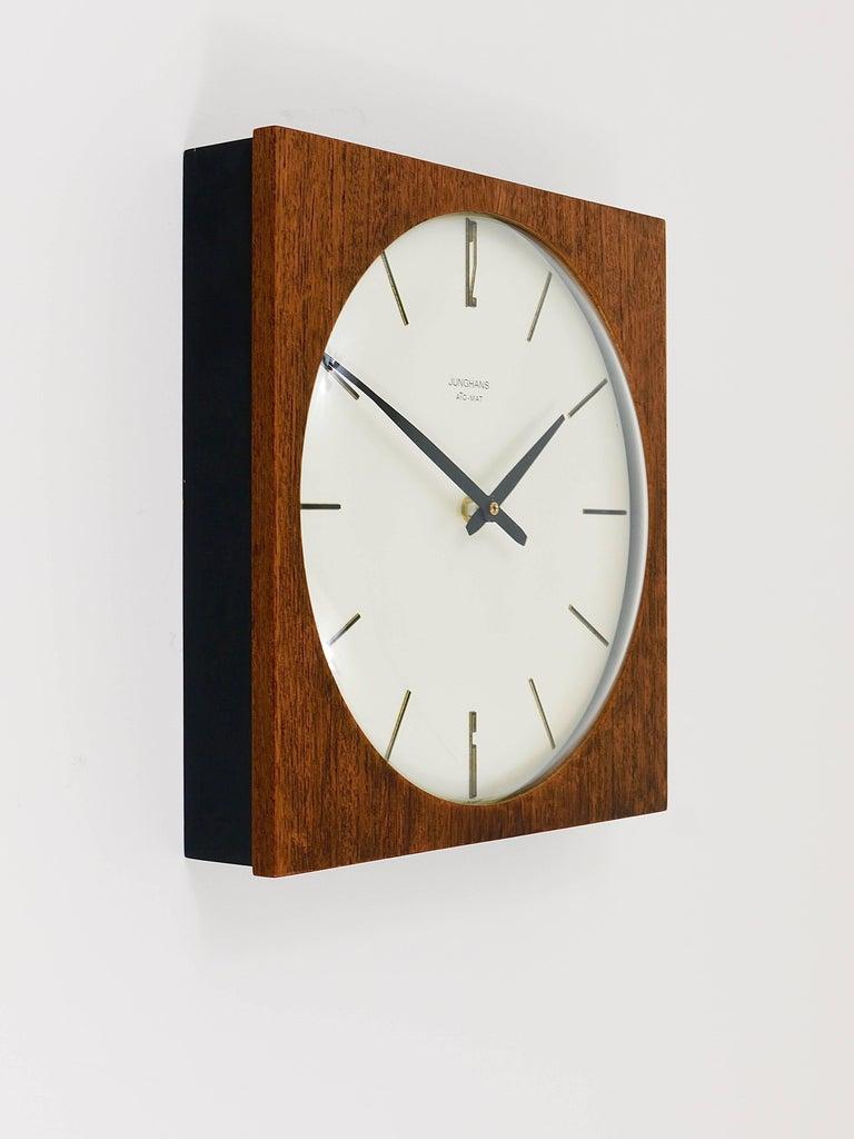 Beautiful Mid Century Junghans Ato Mat Teak Wall Clock