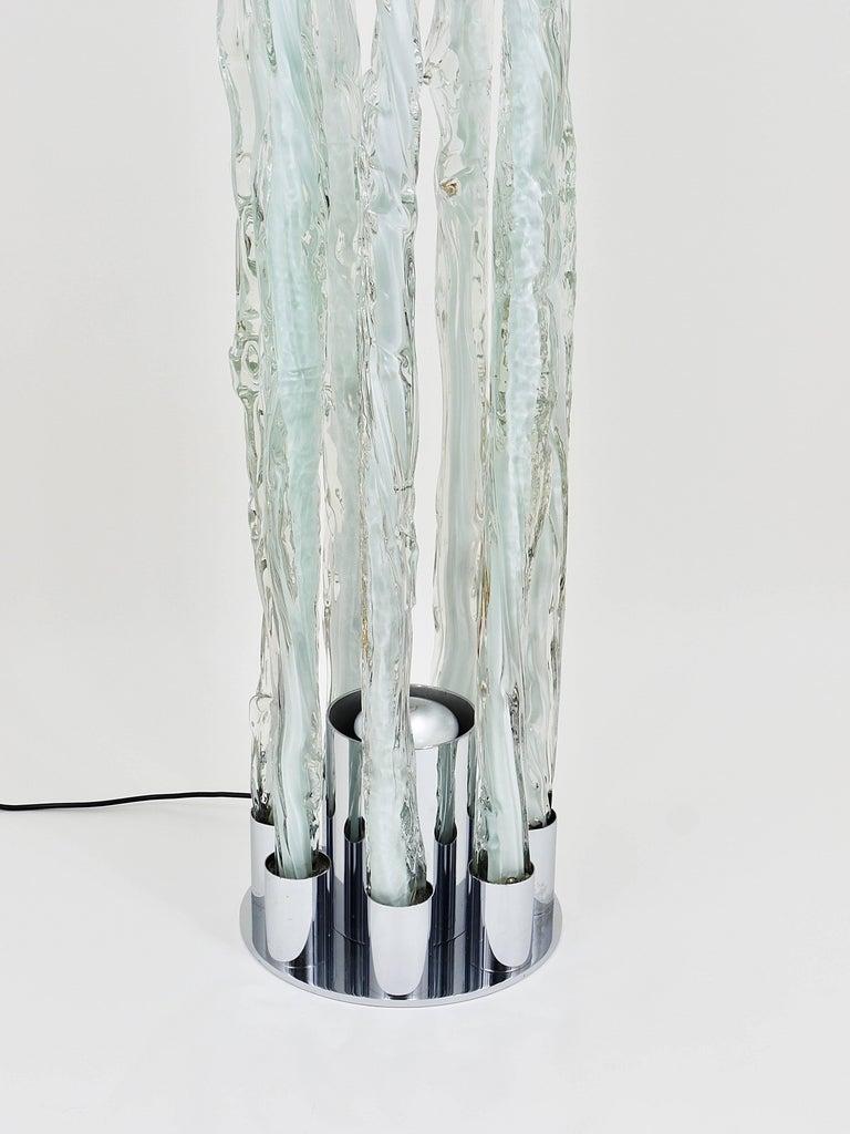 Skulpturale Carlo Nason Mazzega Murano Midcentury Glas Stehleuchte, Italy, 1960s 7