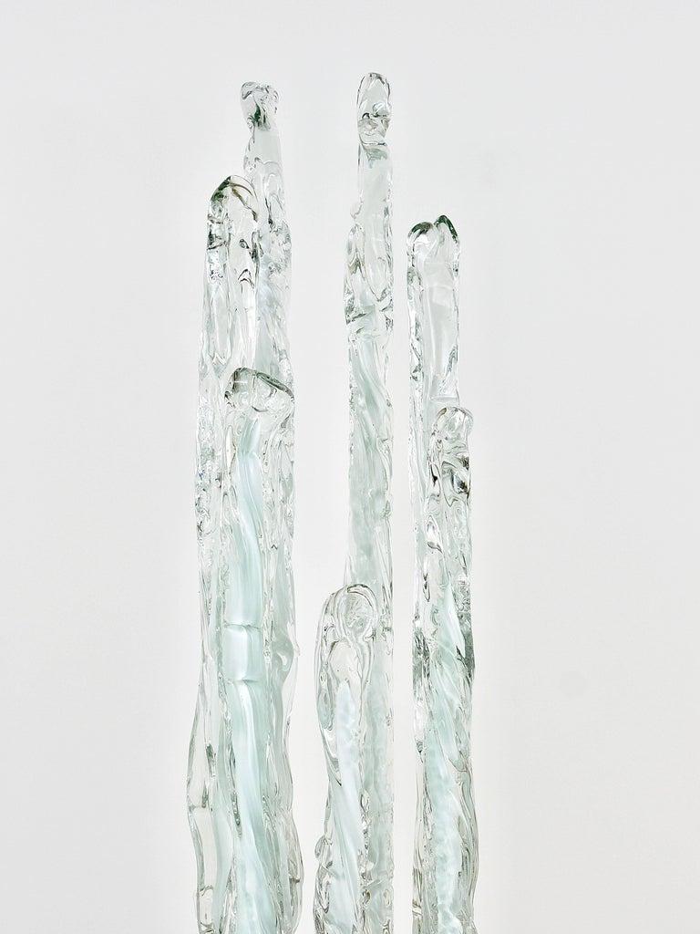 Skulpturale Carlo Nason Mazzega Murano Midcentury Glas Stehleuchte, Italy, 1960s 8