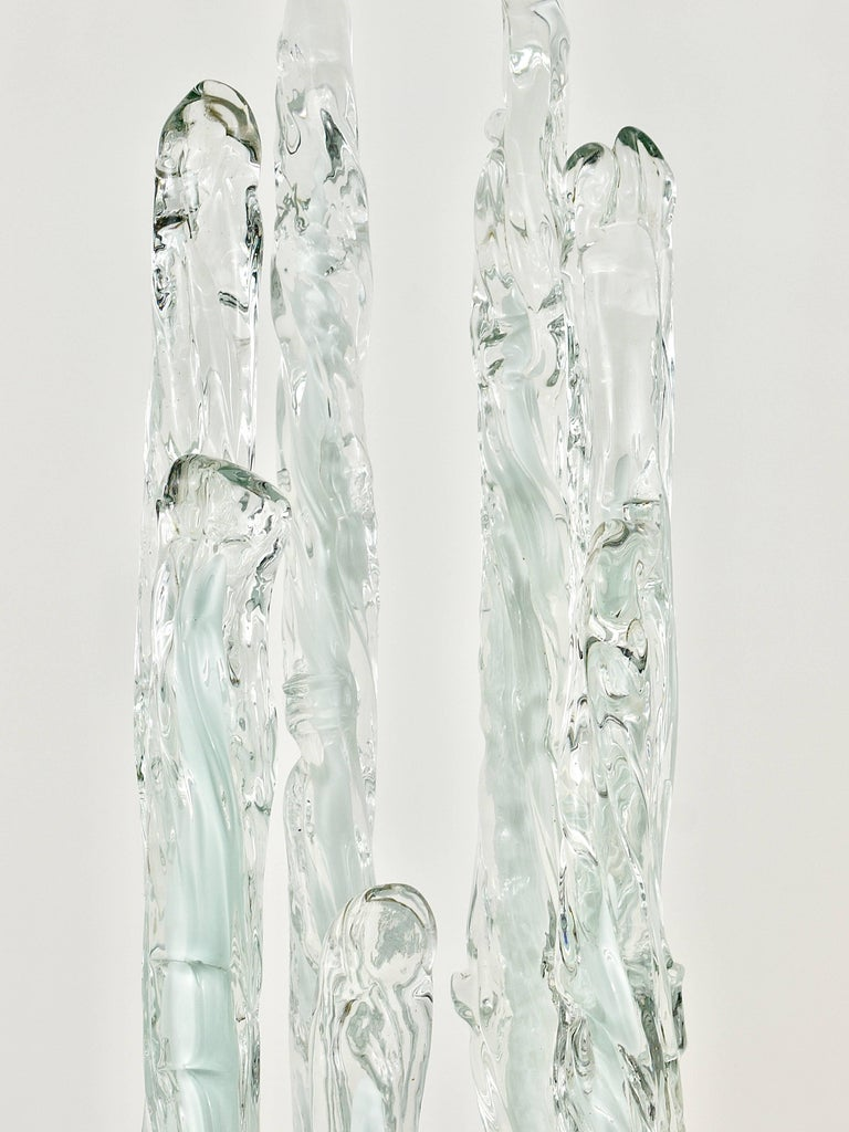 Skulpturale Carlo Nason Mazzega Murano Midcentury Glas Stehleuchte, Italy, 1960s 9