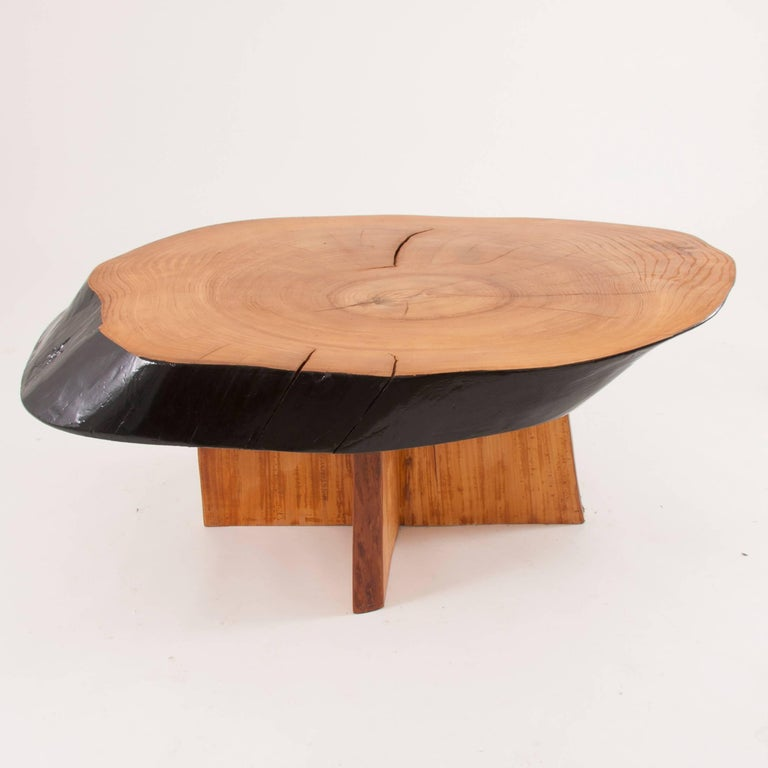 Mid Century Modern Tree Slab Coffee Table For Sale At 1stdibs: Impressive Maple Tree Trunk Coffee Table In The Style Of