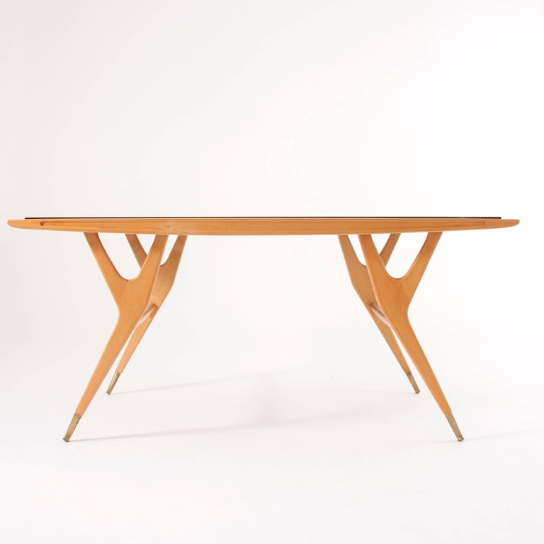 Italian Exceptional Midcentury Coffee Table Attributed to Ico Parisi, Italy, 1950s For Sale