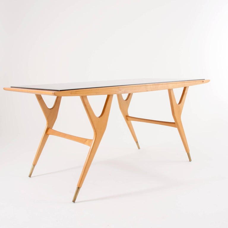 20th Century Exceptional Midcentury Coffee Table Attributed to Ico Parisi, Italy, 1950s For Sale