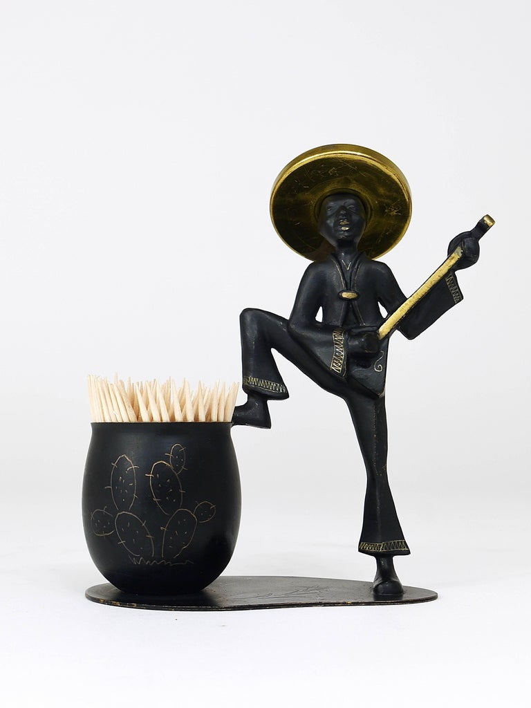 mexican playing guitar sculptural toothpick stand hertha. Black Bedroom Furniture Sets. Home Design Ideas