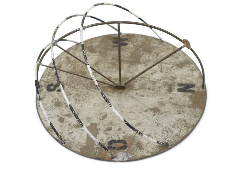 Decorative Iron Sundial, German, Bauhaus Style, 1950s For ...