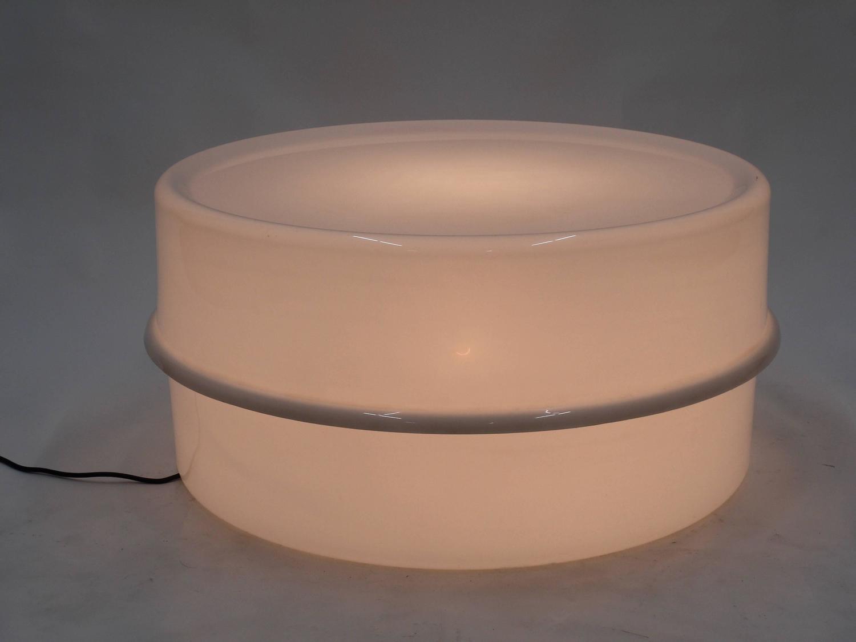 Verner Panton White Illumes Illuminated Coffee Table Lamp Louis Poulsen For Sale At 1stdibs