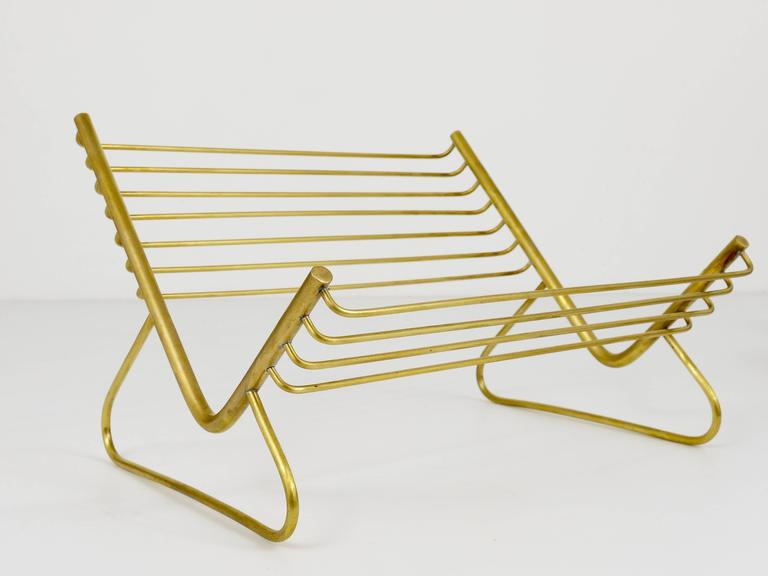 Austrian Carl Aubock Modernist Book Stand, Brass, Austria, 1950s For Sale