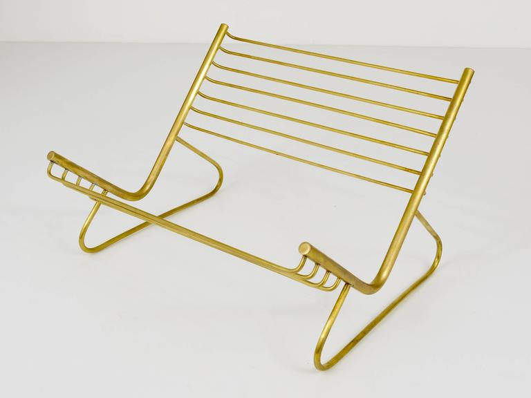 Carl Aubock Modernist Book Stand, Brass, Austria, 1950s In Excellent Condition For Sale In Vienna, AT