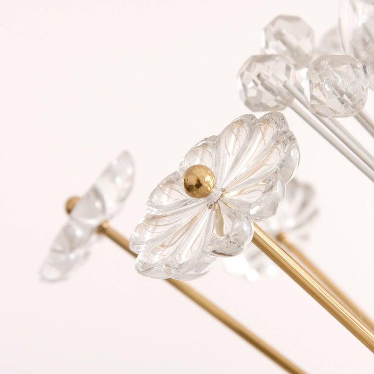 Three Identical Emil Stejnar Blowball Sputnik Brass Chandeliers by Rupert Nikoll 6