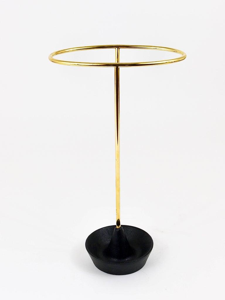 Carl Auböck Mid-Century Brass Umbrella Stand, Austria, 1950s For Sale 4