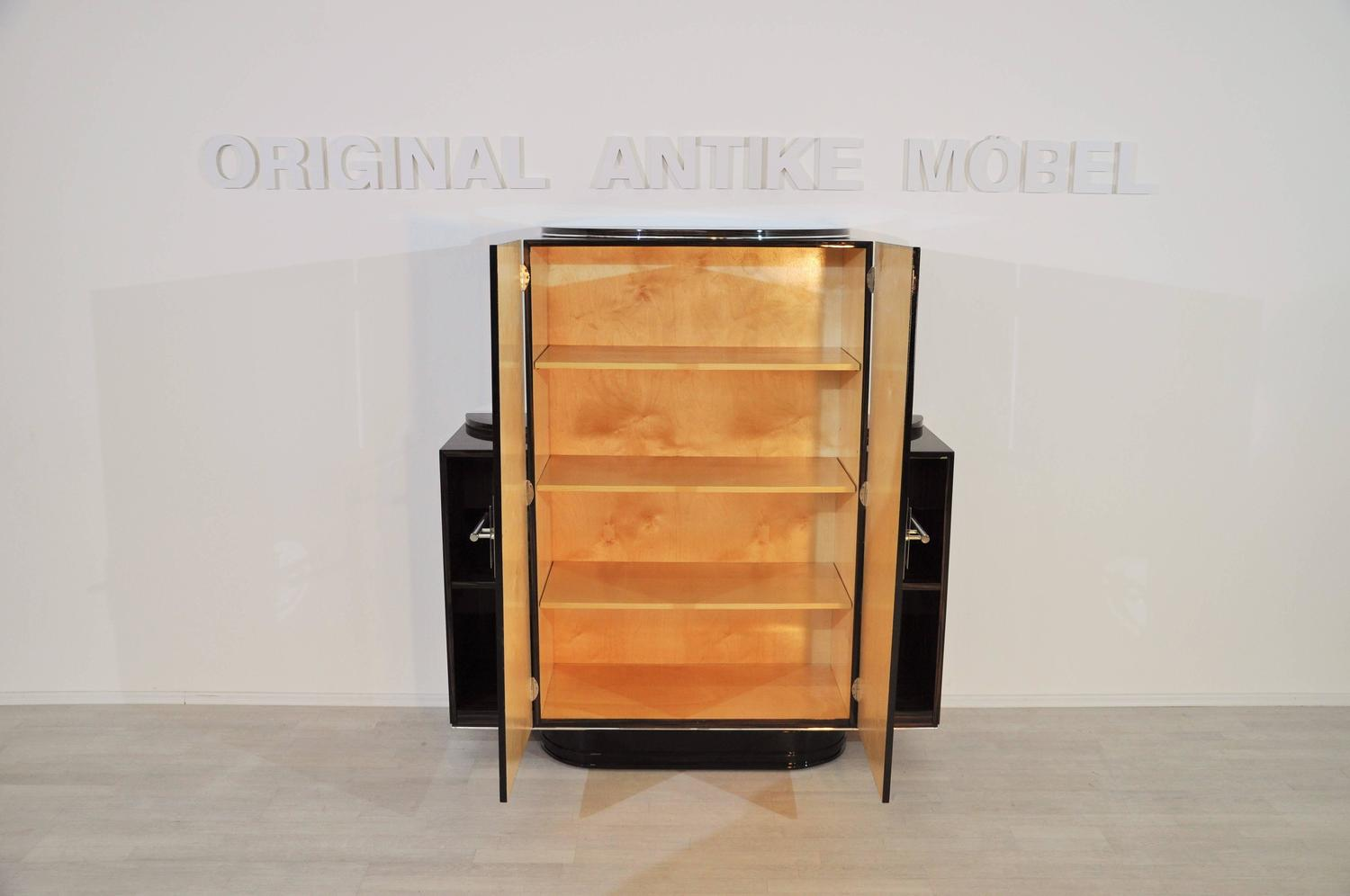 Pair of art deco bedroom cabinets from paris for sale at for Bedroom cabinets for sale