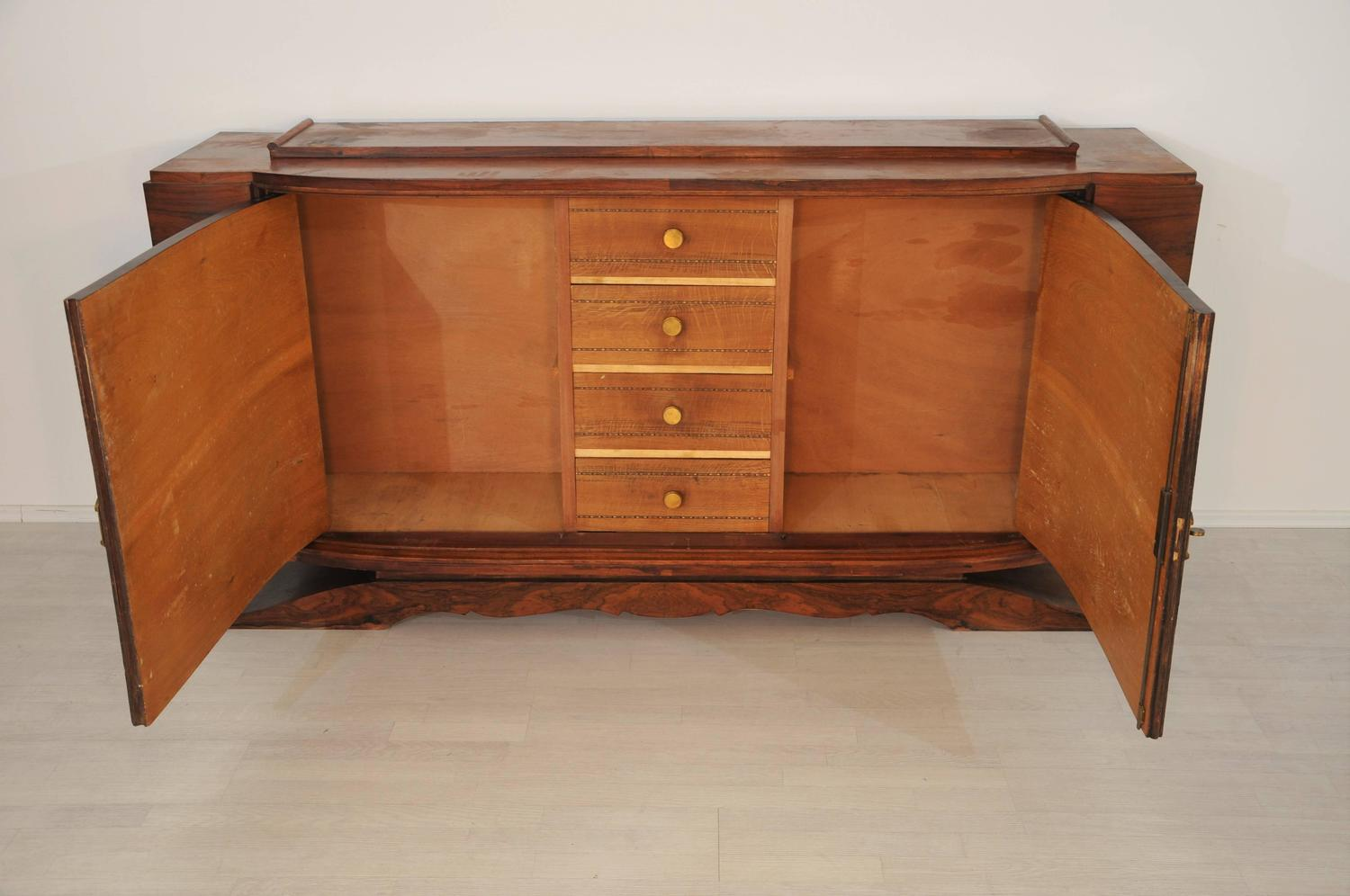 1930s art deco walnut buffet at 1stdibs. Black Bedroom Furniture Sets. Home Design Ideas