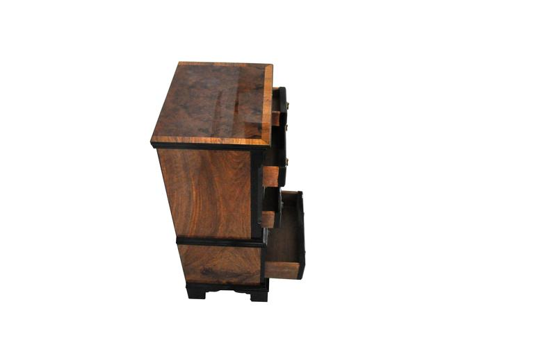 Schubladenschrank mit Nussbaum-Front, 1930er Jahre 5