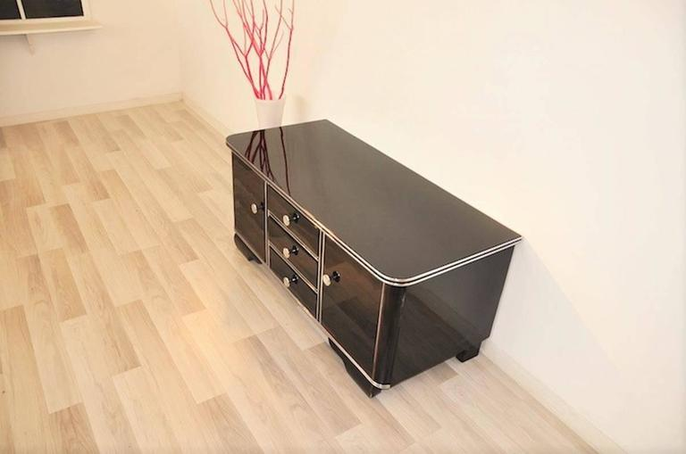 Black highgloss commode from the art deco for sale at 1stdibs for Commode miroir art deco