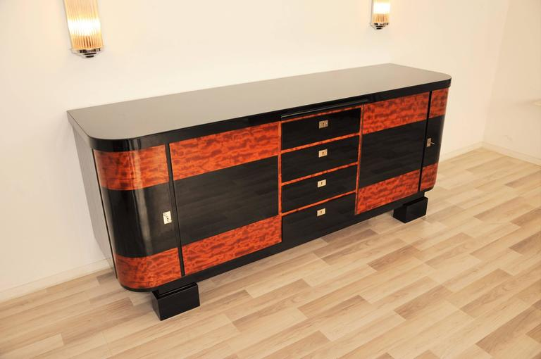 Credenza Definition In Art : Art deco credenza with piano lacquer for sale at stdibs