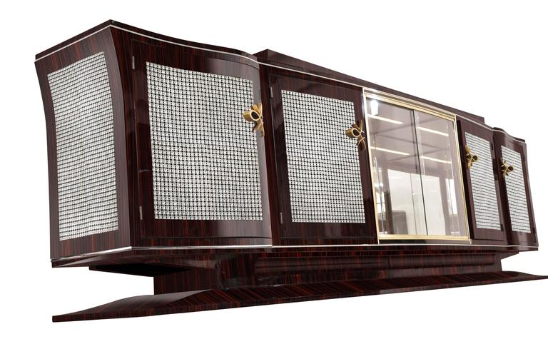 annjoules xxl art deco sideboard made of macassar for sale at 1stdibs. Black Bedroom Furniture Sets. Home Design Ideas