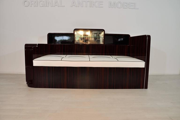 Art Deco Macassar Daybed 7