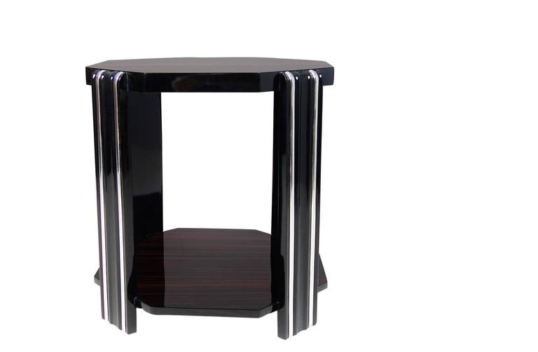 French Art Deco Style Side Table For Sale