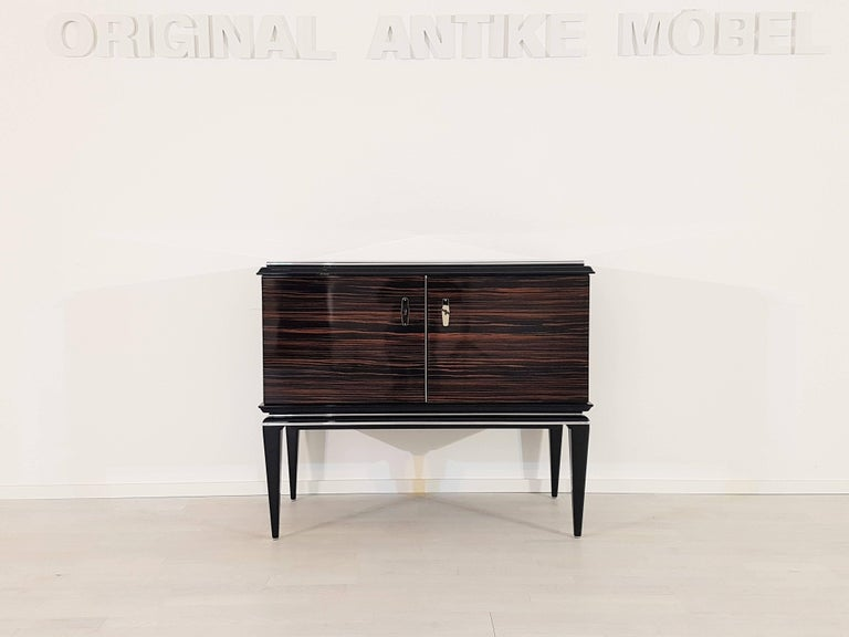 Art deco design macassar commode for sale at 1stdibs for Commode miroir art deco