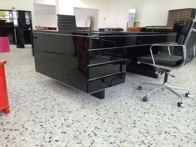 Extra Large Bauhaus Style Partner Desk 4