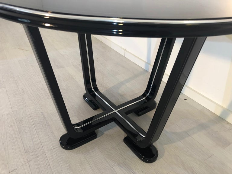 Polished 1920s Art Deco Piano Lacquer End Table For Sale