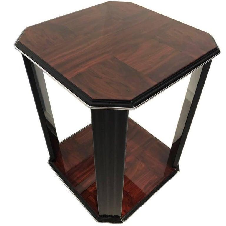 Mahogany Art Deco Style Side Table