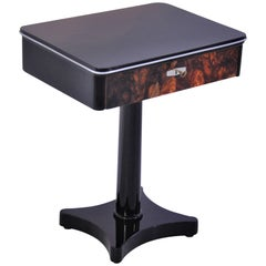 Art Deco Design Console Table with a Walnut Drawer