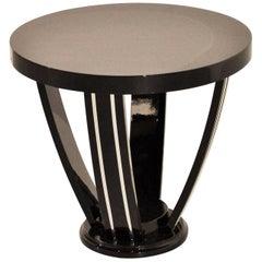 Black Art Deco Style Side Table