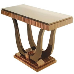 Macassar Art Deco Console Table