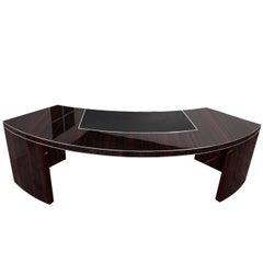 Extra Large Bauhaus Desk with a Macassar Veneer