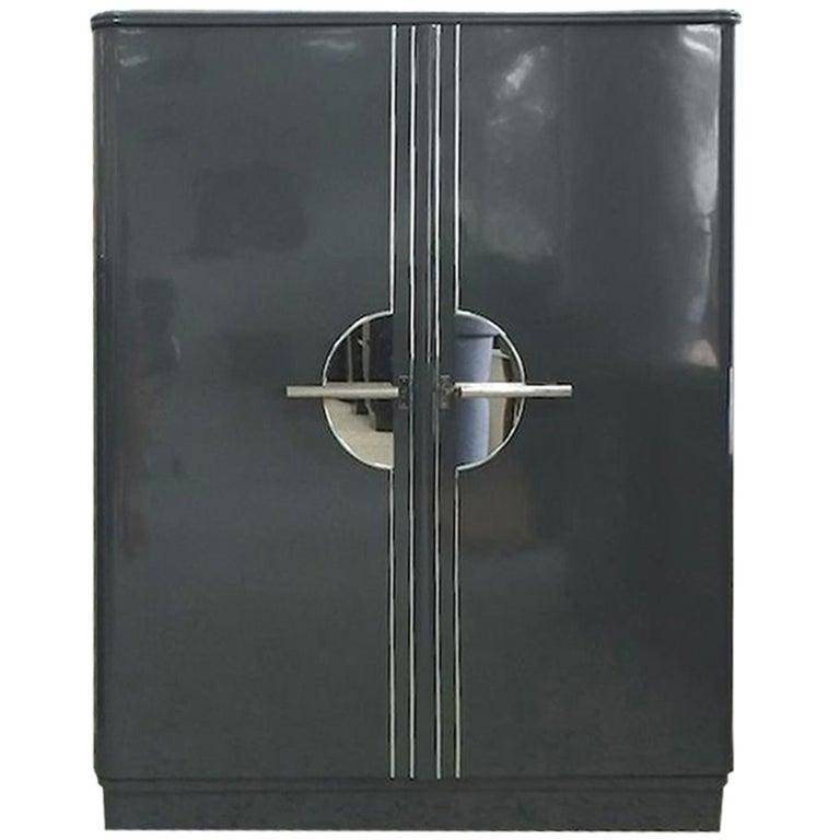 Grey Art Deco Cabinet Dresser