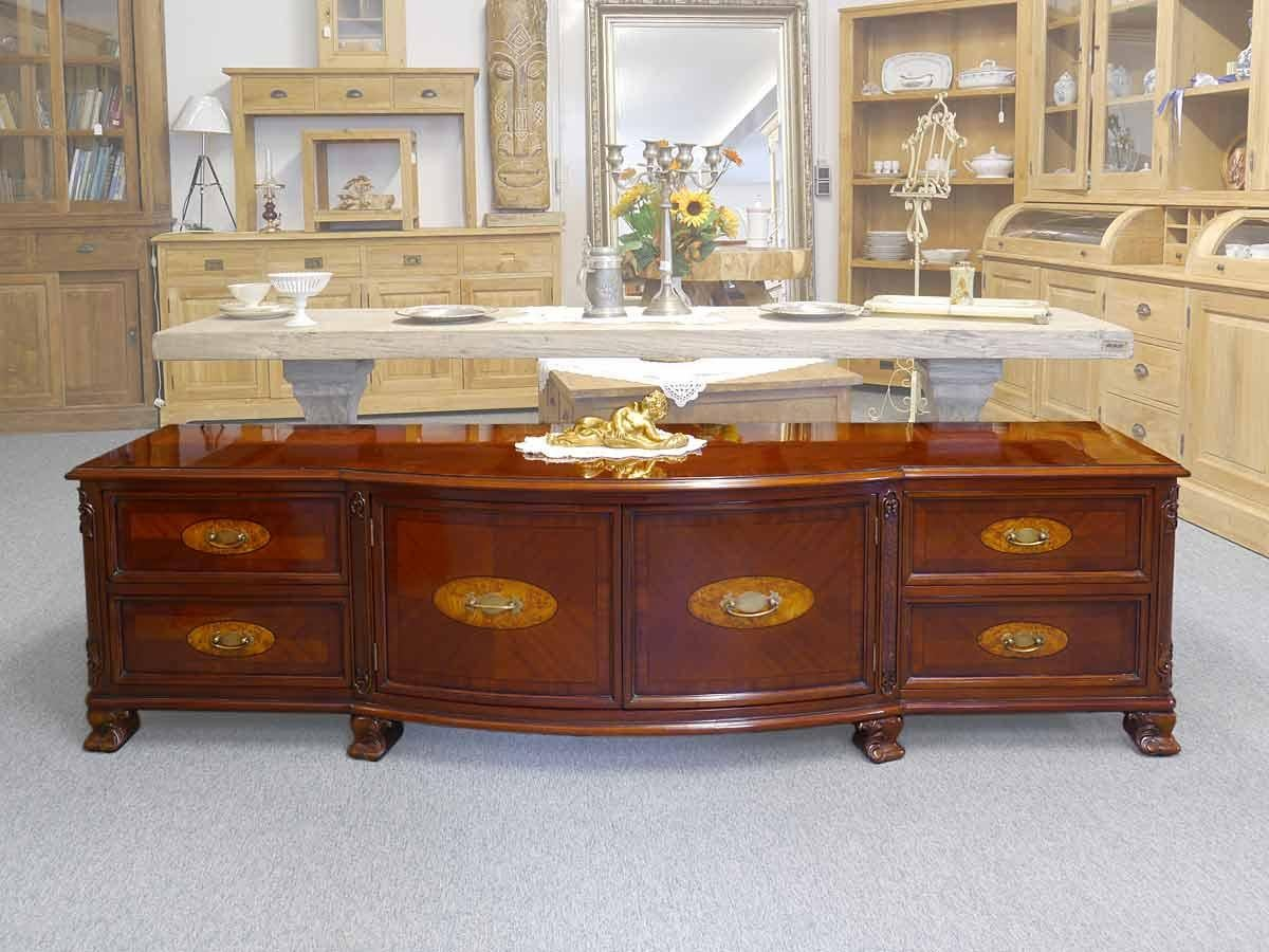 Fantastisch Biedermeier TV Lowboard Cabinet Sideboard In Antique Style With Precious  Inlays For Sale