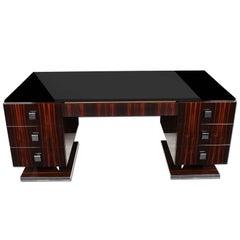 Macassar Art Deco Style Desk