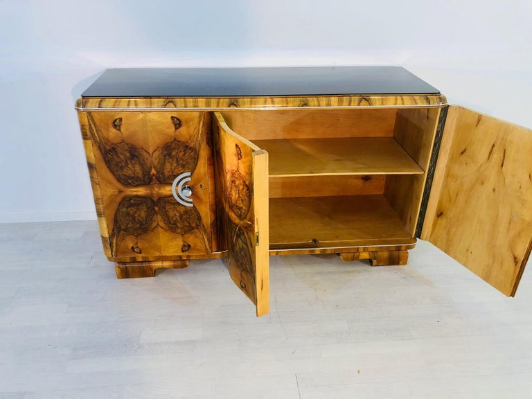 1920s Burl Art Deco Sideboard from France For Sale 1
