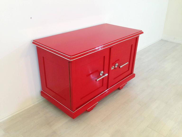 Red art deco commode for sale at 1stdibs for Commode miroir art deco