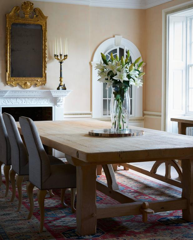 Bespoke French Oak Pugin Table In Excellent Condition For Sale In Petworth, West Sussex